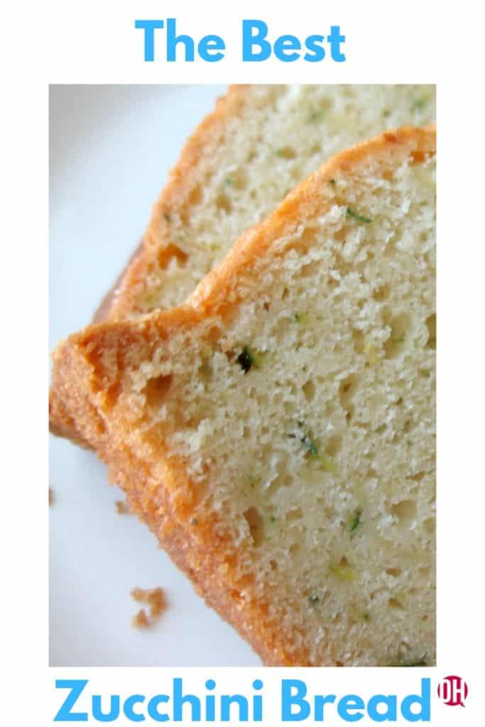 Zucchini bread with sour cream. #zucchinibread #sourcream #quickbread #ohmrstucker
