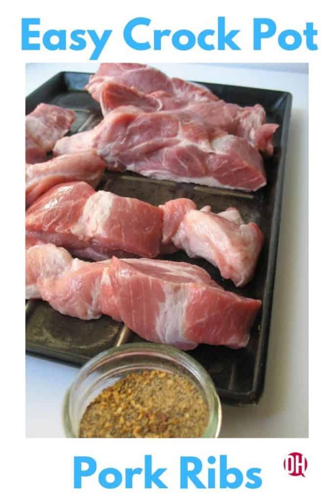 Easy Crock Pot Country Style Pork Shoulder Ribs