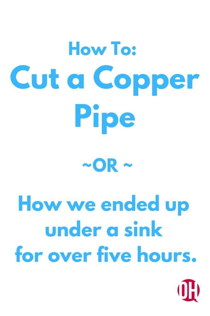 graphic about cutting copper pipe