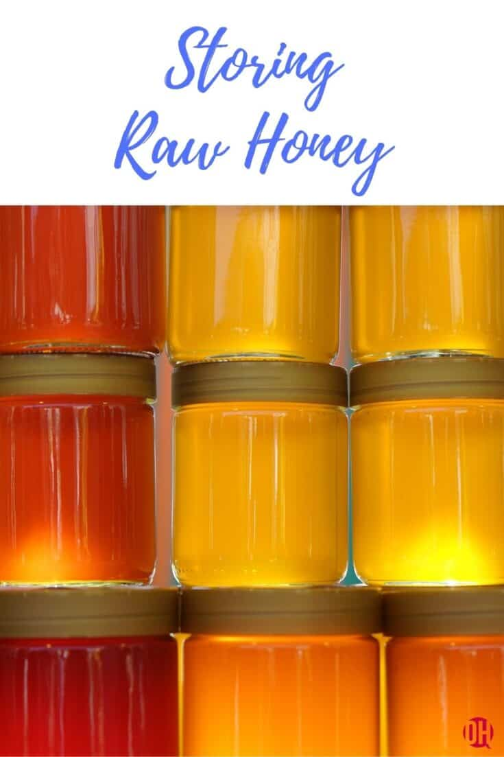colorful raw honey stacked in jars